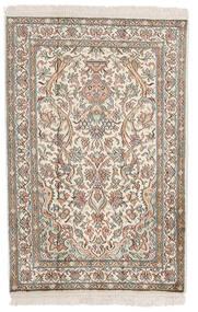 Cachemire Puri Di Seta Tappeto 62X94 Orientale Fatto A Mano Grigio Chiaro/Beige (Seta, India)