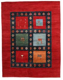 Gabbeh Loribaft Tappeto 198X258 Moderno Fatto A Mano Ruggine/Rosso/Blu Scuro (Lana, India)