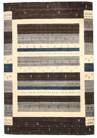 Loribaf Loom Tappeto 206X306 Moderno Fatto A Mano Marrone Scuro/Beige/Grigio Chiaro (Lana, India)