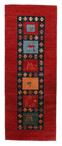 Gabbeh Loribaft Tappeto 92X240 Moderno Fatto A Mano Alfombra Pasillo Ruggine/Rosso/Nero (Lana, India)