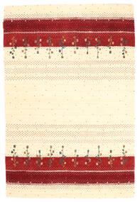 Loribaf Loom Tappeto 123X183 Moderno Fatto A Mano Beige/Rosso Scuro (Lana, India)