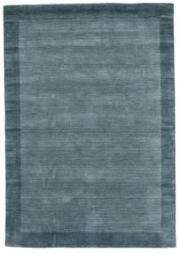 Handloom Frame - Petrol Blu Tappeto 160X230 Moderno Blu (Lana, India)