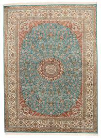 Cachemire Puri Di Seta Tappeto 159X218 Orientale Fatto A Mano Marrone/Grigio Scuro (Seta, India)