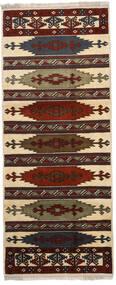 Turkaman Tappeto 87X210 Orientale Fatto A Mano Alfombra Pasillo Marrone Scuro/Marrone Chiaro (Lana, Persia/Iran)