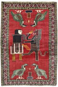 Ghashghai Tappeto 124X195 Orientale Fatto A Mano Rosso/Grigio Scuro (Lana, Persia/Iran)