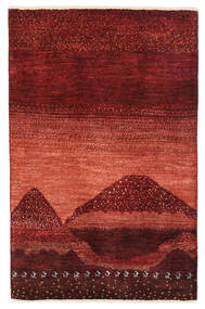 Gabbeh Persia Tappeto 79X122 Moderno Fatto A Mano Rosso Scuro (Lana, Persia/Iran)