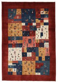 Gabbeh Persia Tappeto 125X179 Moderno Fatto A Mano Rosso Scuro/Rosso (Lana, Persia/Iran)