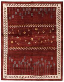 Gabbeh Persia Tappeto 160X203 Moderno Fatto A Mano Rosso Scuro/Beige (Lana, Persia/Iran)
