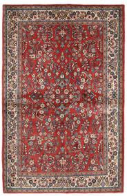 Saruk Tappeto 132X206 Orientale Fatto A Mano Rosso Scuro/Beige (Lana, Persia/Iran)