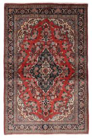 Qum Kork/Di Seta Tappeto 139X212 Orientale Fatto A Mano Rosso Scuro/Nero (Lana/Seta, Persia/Iran)