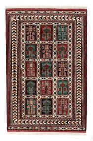 Turkaman Tappeto 98X146 Orientale Fatto A Mano Marrone Scuro/Rosso Scuro (Lana, Persia/Iran)