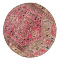 Vintage Heritage Tappeto Ø 100 Moderno Fatto A Mano Rotondo Marrone/Rosa (Lana, Persia/Iran)