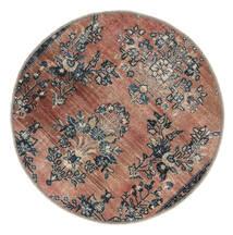 Vintage Heritage Tappeto Ø 100 Moderno Fatto A Mano Rotondo Marrone Chiaro/Nero (Lana, Persia/Iran)