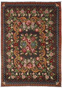 Kilim Rose Moldavia Tappeto 191X282 Orientale Tessuto A Mano Nero/Verde Scuro (Lana, Moldavia)