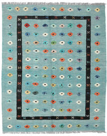 Kilim Nimbaft Tappeto 157X200 Moderno Tessuto A Mano Verde Pastello/Blu Turchese (Lana, Afghanistan)