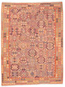 Kilim Afghan Old Style Tappeto 257X336 Orientale Tessuto A Mano Arancione/Beige Grandi (Lana, Afghanistan)
