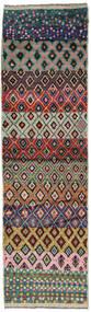 Moroccan Berber - Afghanistan Tappeto 78X282 Moderno Fatto A Mano Alfombra Pasillo Nero/Rosso Scuro (Lana, Afghanistan)
