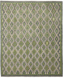 Kilim Afghan Old Style Tappeto 252X300 Orientale Tessuto A Mano Grigio Scuro/Verde Chiaro Grandi (Lana, Afghanistan)