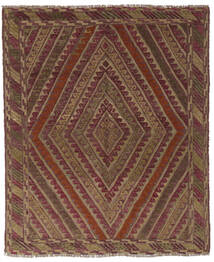 Kilim Golbarjasta Tappeto 146X166 Orientale Tessuto A Mano Marrone Scuro/Nero (Lana, Afghanistan)