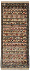 Turkaman Tappeto 86X200 Orientale Fatto A Mano Alfombra Pasillo Marrone Scuro/Nero/Marrone (Lana, Persia/Iran)