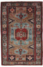 Hamadan Tappeto 132X205 Orientale Fatto A Mano Nero/Marrone Scuro (Lana, Persia/Iran)