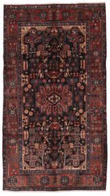 Nahavand Tappeto 156X280 Orientale Fatto A Mano Alfombra Pasillo Nero/Marrone Scuro (Lana, Persia/Iran)