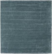 Handloom Fringes - Secondario Tappeto 250X250 Moderno Quadrato Blu Scuro Grandi (Lana, India)