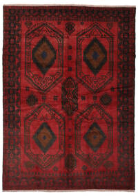 Beluch Tappeto 180X252 Orientale Fatto A Mano Nero/Rosso Scuro (Lana, Afghanistan)