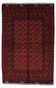 Afghan Tappeto 156X230 Orientale Fatto A Mano Nero/Bianco/Creme (Lana, Afghanistan)