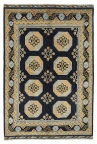Afghan Tappeto 163X233 Orientale Fatto A Mano Nero/Verde Scuro (Lana, Afghanistan)