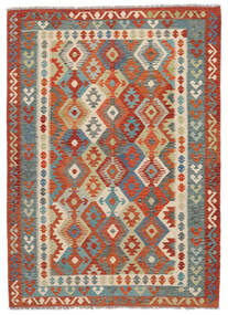 Kilim Afghan Old Style Tappeto 174X243 Orientale Tessuto A Mano Marrone Scuro/Rosso Scuro (Lana, Afghanistan)