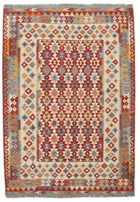 Kilim Afghan Old Style Tappeto 170X247 Orientale Tessuto A Mano Marrone Scuro/Rosso Scuro (Lana, Afghanistan)