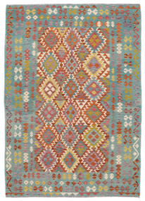 Kilim Afghan Old Style Tappeto 172X240 Orientale Tessuto A Mano Verde Scuro/Marrone Scuro (Lana, Afghanistan)