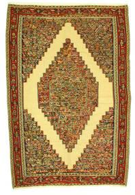 Kilim Senneh Tappeto 198X292 Orientale Tessuto A Mano (Lana, Persia/Iran)